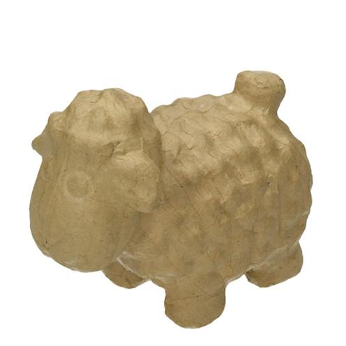 Schaf, aus Pappmachè, 16 x 9 x 14 cm