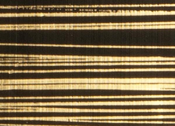 Verzierwachsplatte, gold gestreift, 200x100x0,5mm, schwarz