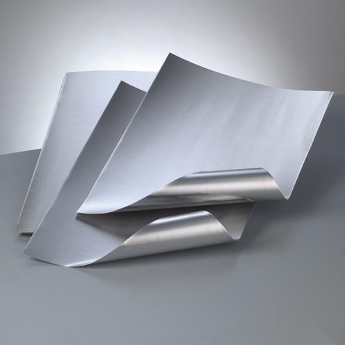 Alu-Metallfolie, 20 x 30cm, 3 Bogen, silber/silber