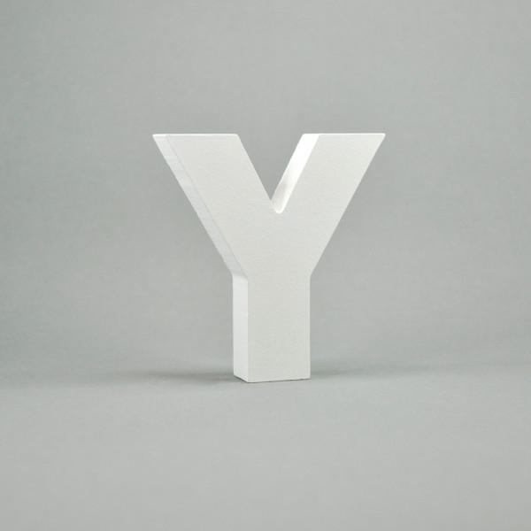 """MDF- Buchstaben """"Y"""", weiß"""
