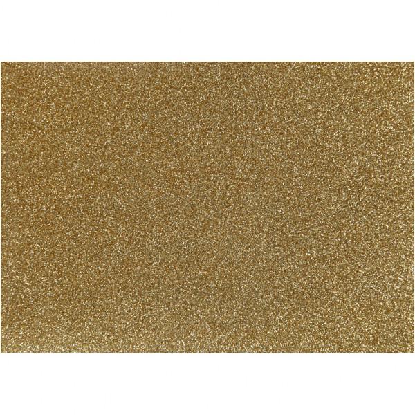 Glitter-Bügelfolie, A5 14,8x21 cm, gold