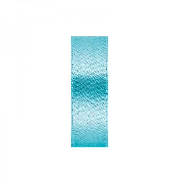 Satinband, doppelseitig, Länge 10 m, Breite 10 mm, türkis