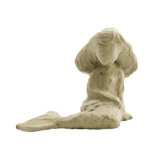 decopatch Meerjungfrau sitzend aus Pappmachè, 6 x 10,5 x 9,5 cm