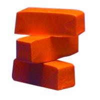 Farbpigmente für Wachs, 3 Stück, orange
