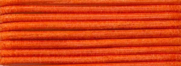 Lederriemen, 2 mm Ø - 1 m, Rindsleder, orange