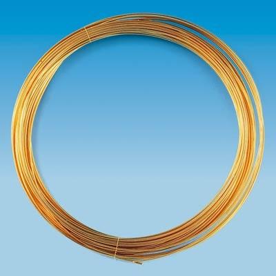 Golddraht, echt vergoldet, 0,8 mm Ø - 6 m/Rolle