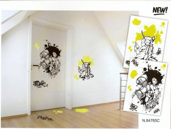 Wandsticker graffiti 2er satz 49x69cm kreativ depot - Wandsticker graffiti ...