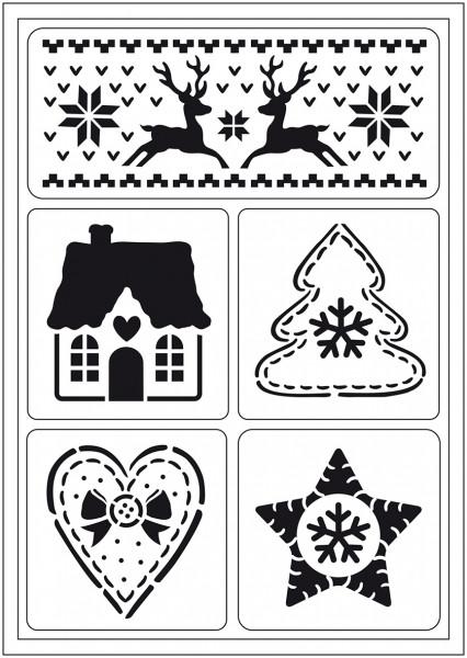 Viva Decor Flex-Schablone A5 - Skandinavische Weihnachten