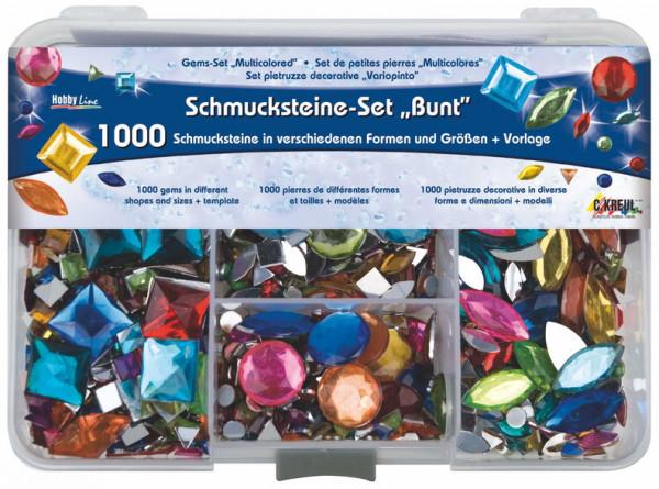Hobby Line Schmucksteine Set Bunt