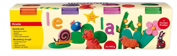 EBERHARD FABER, Spielknete, 4 Sonderfarben à 140 g