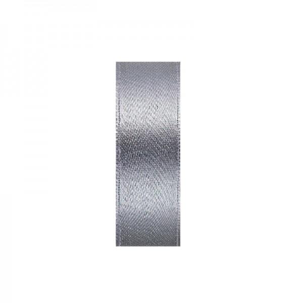 Satinband, doppelseitig, Länge 10 m, Breite 3 mm, grau/silber