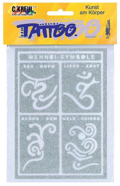 Hobby Line Tattoo-Schablone Mehndi-Symbole