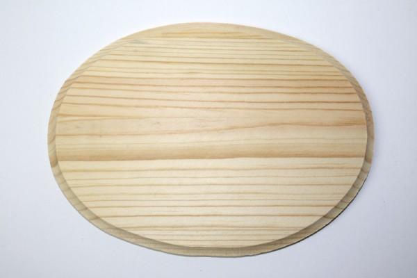 Holz-Platine, oval, 13 x 18 cm