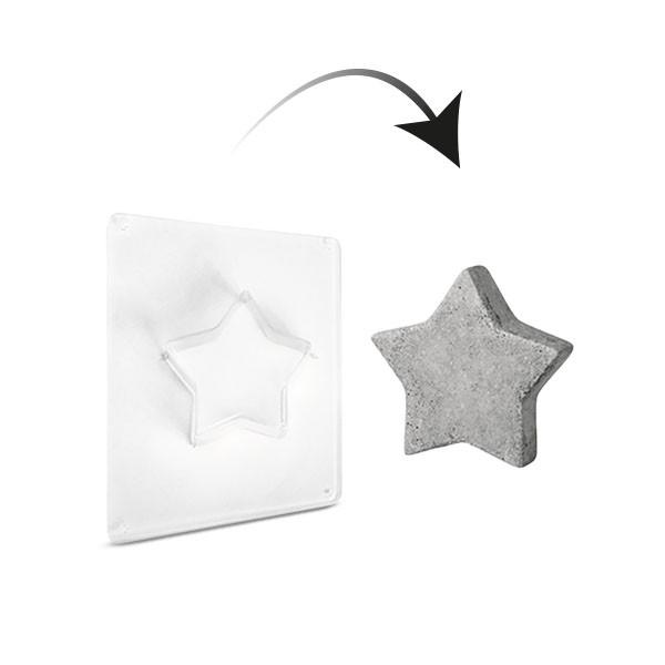 Gießform Stern 6cm - 3,5cm tief