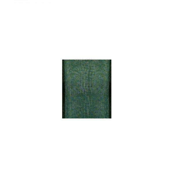 Chiffonband mit Drahtkante, 15mm breit, 5m lang - dunkelgrün