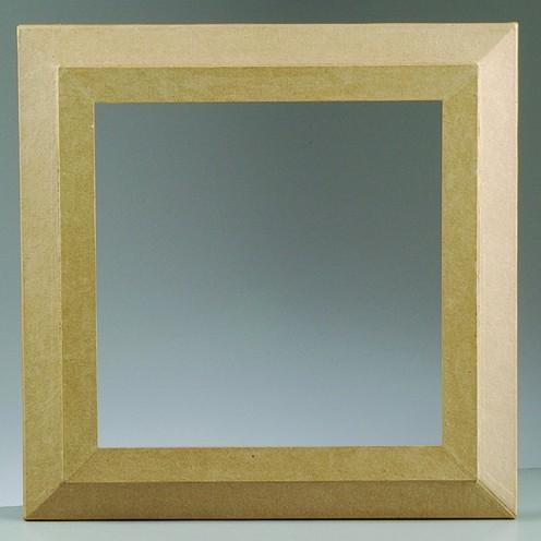 Bilderrahmen, aus Pappmachè, 52 x 52 cm / 40 x 40 cm