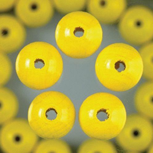 Holzperlen 6mm, 110 Stück - gelb