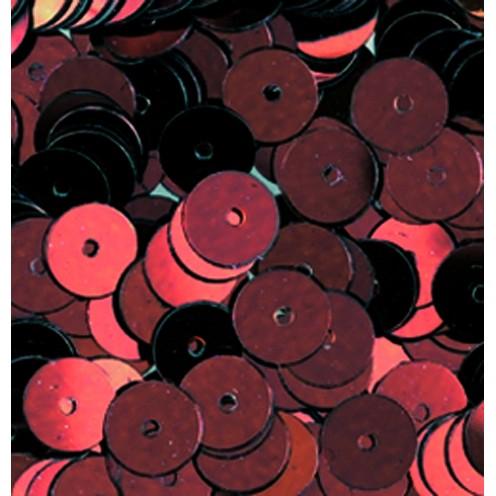 Pailletten, rund, flach, 6 mm, 4000 St, kupfer