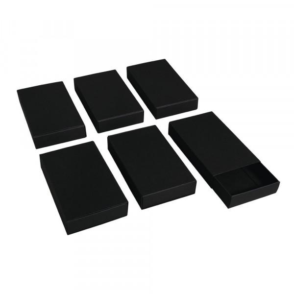 Blanko Streichholzschachteln XXL, schwarz, 11x 6,5 x 2 cm, 6Stück