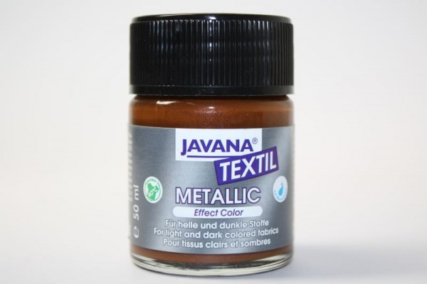 JAVANA TEXTIL METALLIC, 50 ml, Metallic-Braun