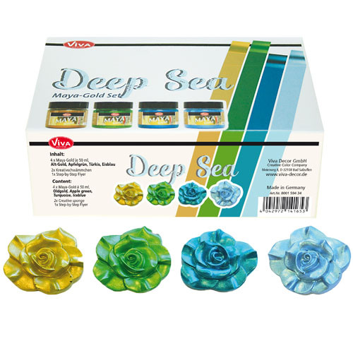 Viva Decor Maya-Gold Set, Deep Sea - 4 x 45 ml