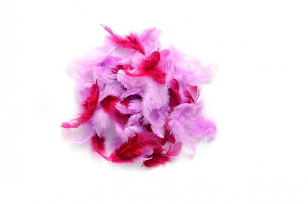 Deco-Federn, 10 gr., rosa sortiert