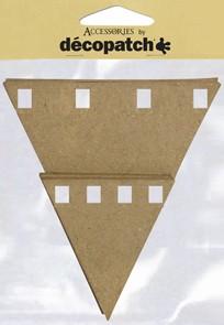 dècopatch Wimpel, dreieckig, 10 Stück