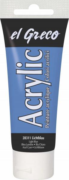 Acrylfarbe el Greco Acrylic, 75 ml - Lichtblau
