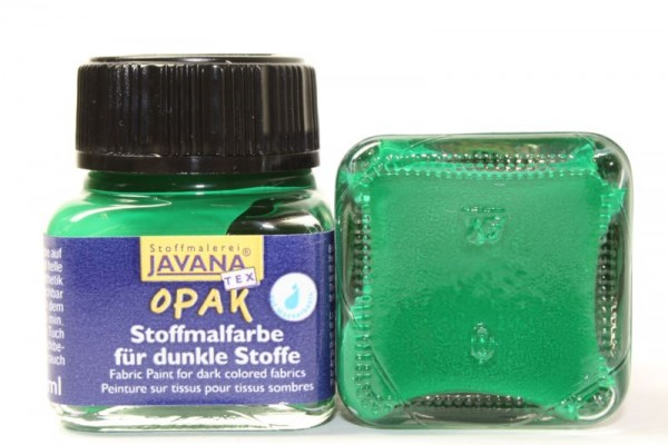 JAVANA TEXTIL Opak, für dunkle Stoffe, 20 ml, Dunkelgrün