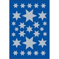 Sticker Sterne, verschiedene Größen, silber