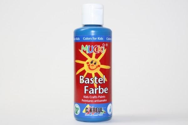 Mucki Bastelfarbe, 80 ml, Primärblau