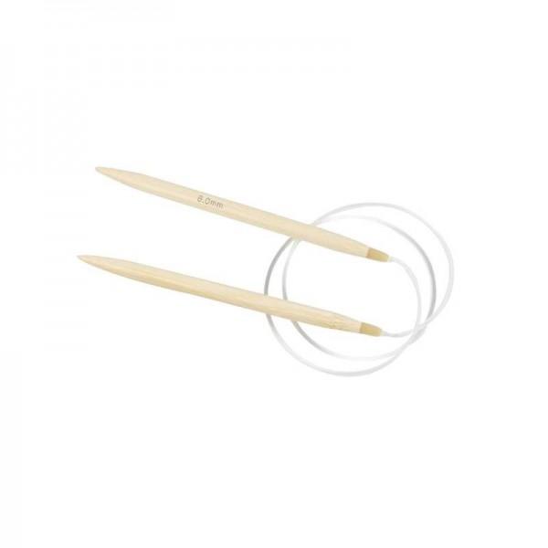 Rundstricknadel, aus Bambus, 8mm - 80cm