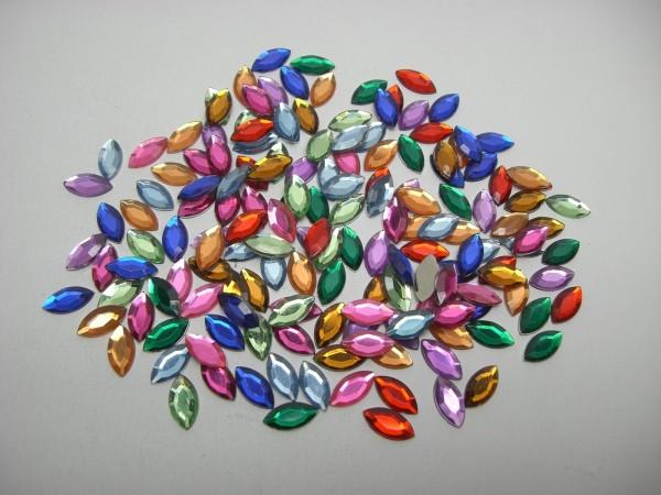 Hobby Line Schmucksteinchen, Blätter, bunt