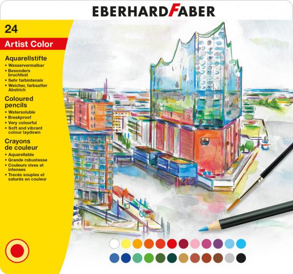 Eberhard Faber - 24 runde Artist Color Aquarellstifte