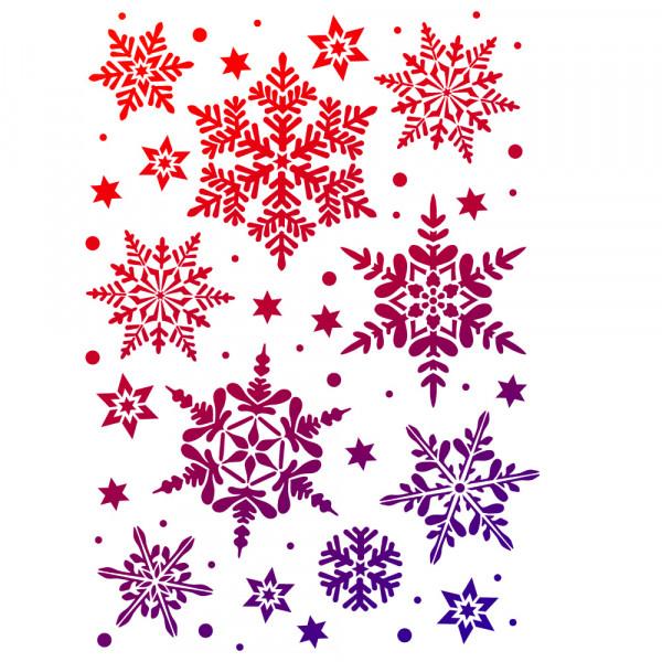 Viva Decor Universal-Schablone, DIN A3, Schneesterne groß