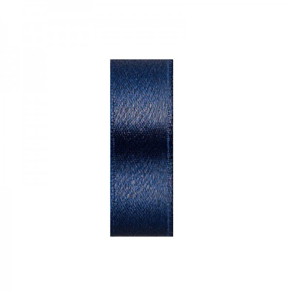 Satinband, doppelseitig, Länge 10 m, Breite 3 mm, dunkelblau