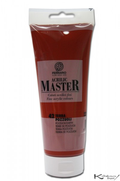 Ferrario Acrilic Master Acrylfarbe, 250 ml, Terra Pozzuoli