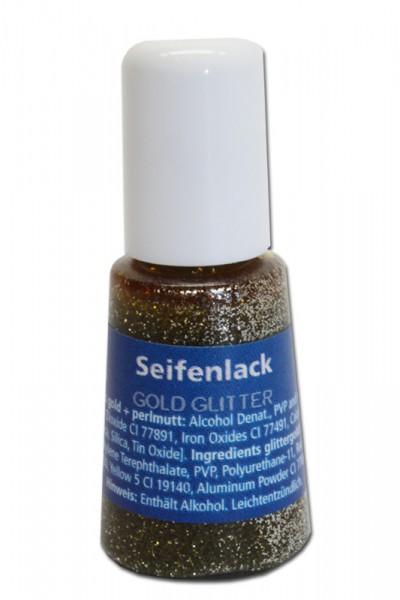 Seifenlack, 4 ml, gold glitter