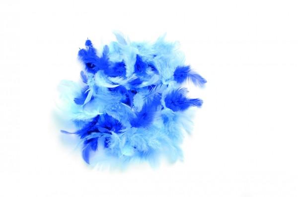 Deco-Federn, 10 gr., blau sortiert