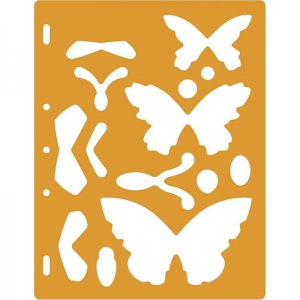 Schablone für Shape Cutter, 27,9 x 22,6 x 0,3 cm Schmetterlinge