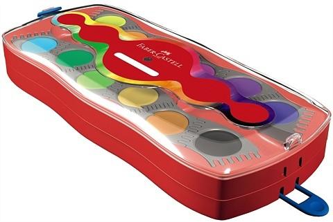 FABER-CASTELL Connector Deckfarbkasten, 24 Farben, 1 Deckweiß