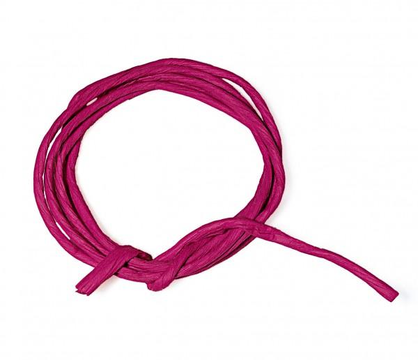 Papierkordel mit Drahtkern, 2 mm, 25 m, pink