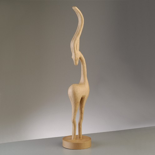 Antilope, aus Pappmachè, 82 x 17 x 7,5 cm