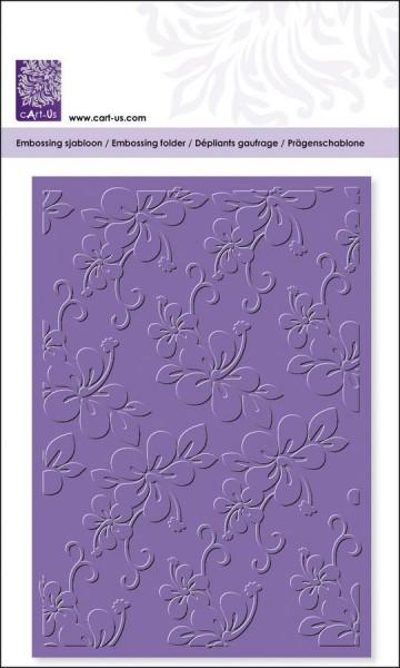 Cuttlebug Hintergrund-Prägeschablone, Blüte