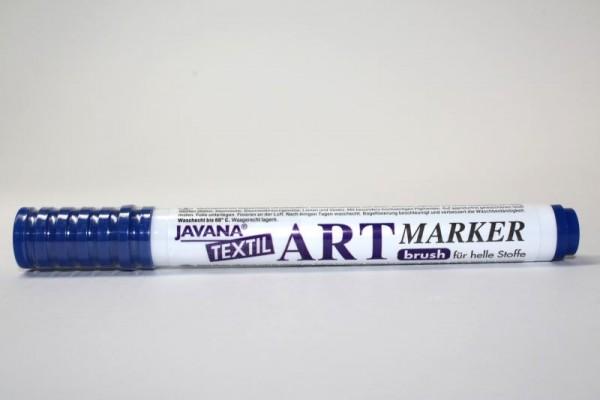 JAVANA TEXTIL ARTMARKER, Stoffmalstift, Blau