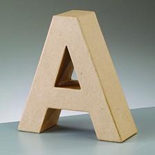 Buchstabe A, 10 x 3 cm, aus Pappmaché