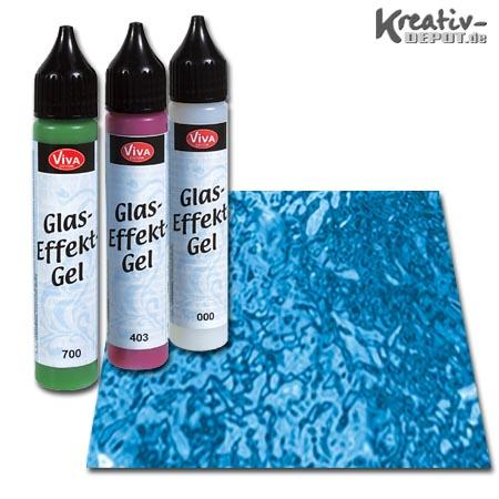 viva decor glas effekt gel 25 ml transparent blau. Black Bedroom Furniture Sets. Home Design Ideas