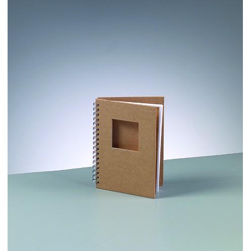 Notizbuch Quadrat, aus Pappmachè, DIN A6