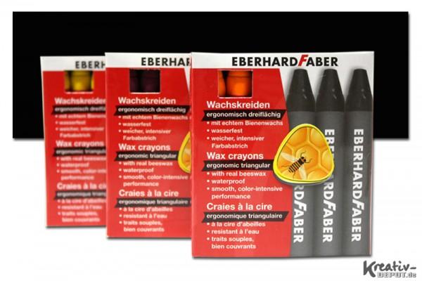 EBERHARD FABER Wachsmalkreiden, 12 Stück, schwarz