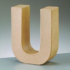 Buchstabe U, 17,5 x 5,5 cm, aus Pappmachè
